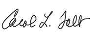 Carol Folt signature