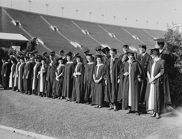 USC:A Coliseum commencement; why leaf blowers went quiet on campus
